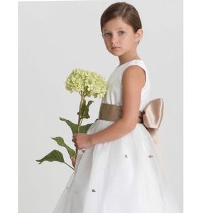 Us Angels Flower Girl/Communion Gown &Veil, SILVER